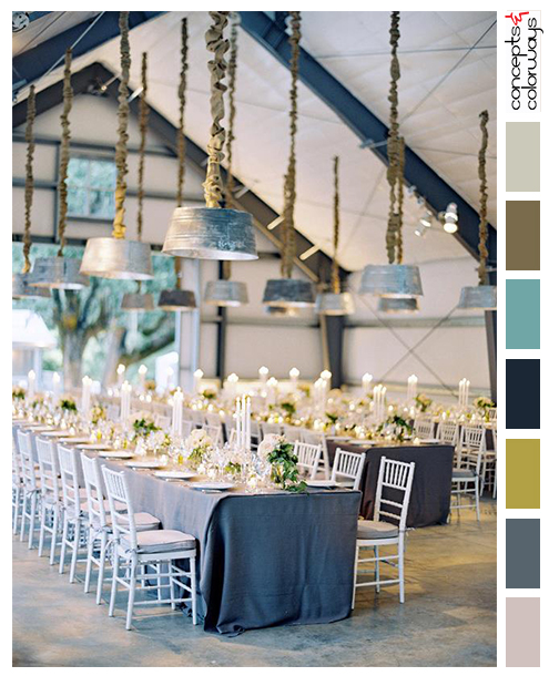 rustic elegance wedding reception design