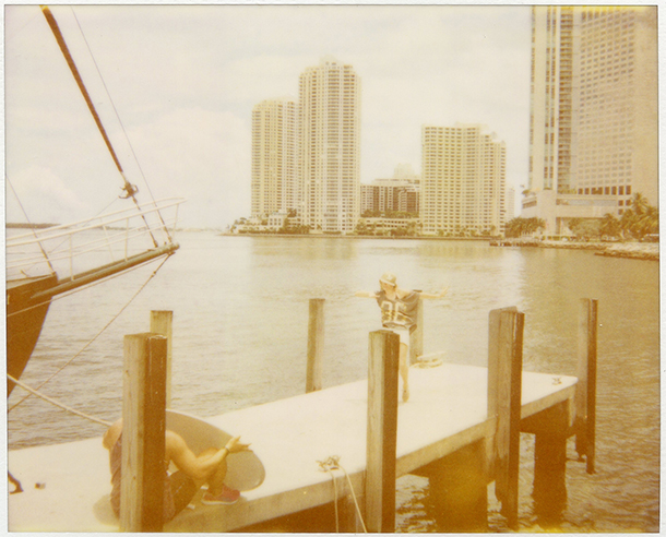 sepia photograph of downtown dock