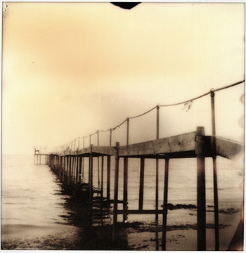 sepia old dock photo