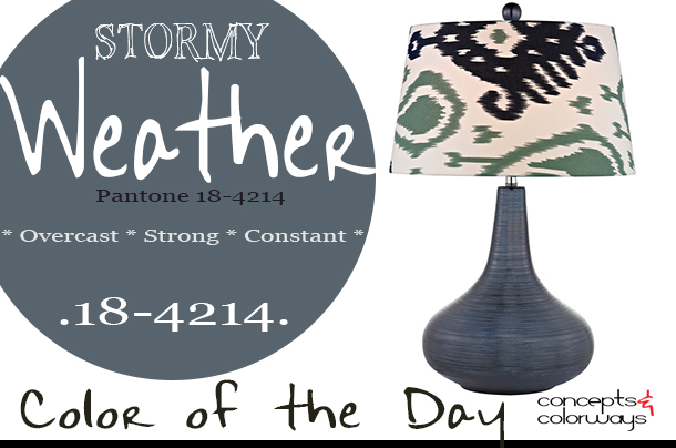 pantone stormy weather color of the day