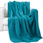 biscay bay chenille throw blanket