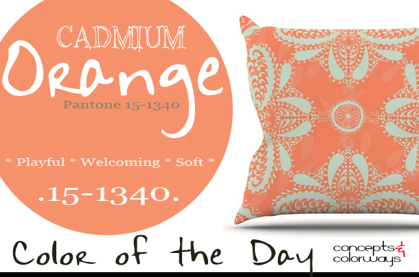 pantone cadmium orange color of the day