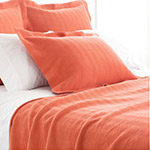 cadmium orange herringbone coverlet