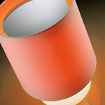 cadmium orange modern table lamp