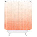 cadmium orange shower curtain