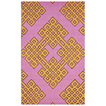 cashmere rose and orange geometric rug