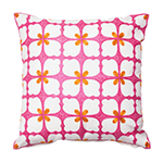 cashmere rose and orange pillow