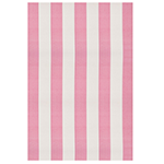 cashmere rose and white striped rug