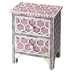 cashmere rose detailed end table