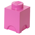 hot pink lego storage brick