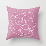cashmere rose throw pillow by four hearts studio society6