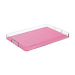 purplish-pink rectangular tray