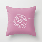cashmere rose vine throw pillow by altruhearts society6