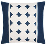 navy blue and white circle pattern pillow