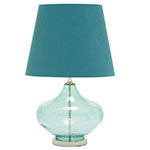 teal genie's bottle table lamp