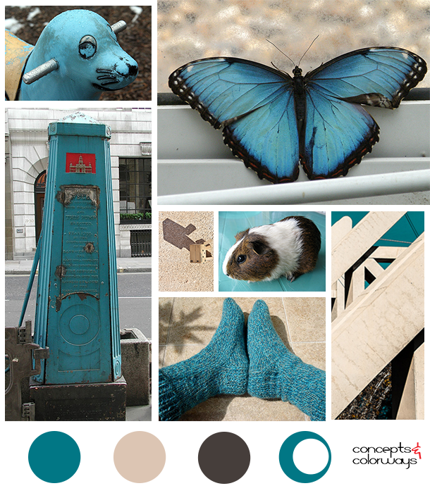 turquoise pop mood board