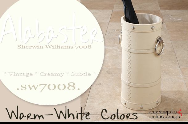 sherwin williams alabaster color of the day