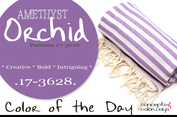 pantone amethyst orchid color of the day