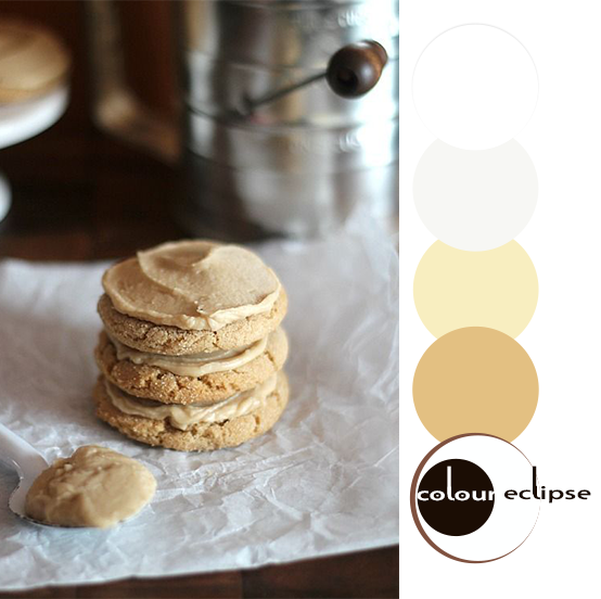 stack of brown sugar cookies with color palette