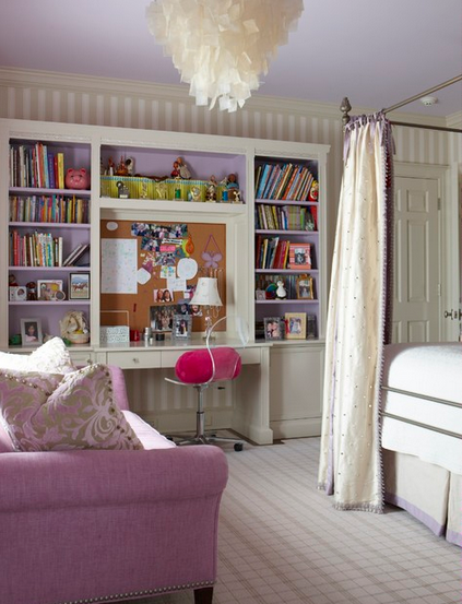 cashmere rose sofa in girls bedroom