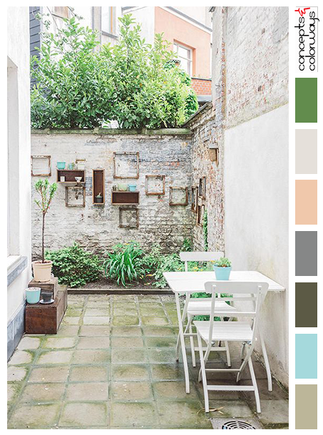 courtyard bliss color palette