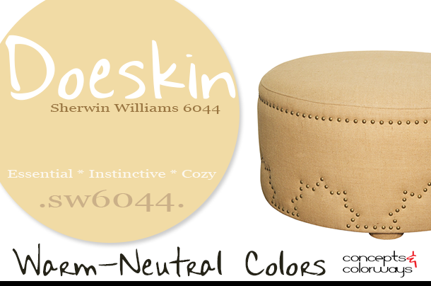 sherwin williams doeskin color of the day