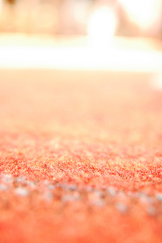 peach carpet close-up
