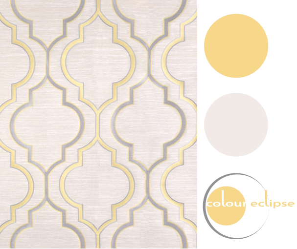 soft gray and golden yellow color palette