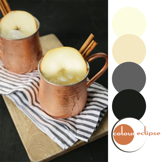 hard apple cider mule with color palette