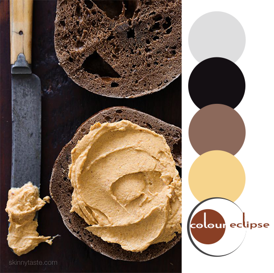 pumpkin cream cheese recipe with color palette