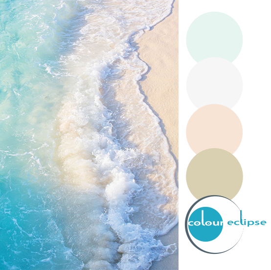 soothing surf photograph with color palette