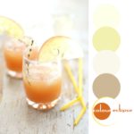 cider rum punch recipe with color palette