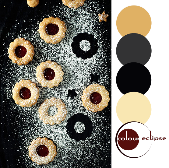 spiced linzer cookies recipe with color palette