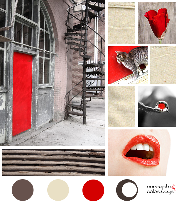 red gray and taupe color palette mood board