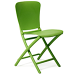 bright green folding chair
