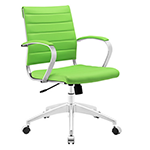 bright green mid back office chair