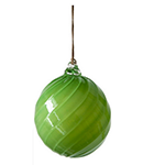 bright green glass holiday ornament