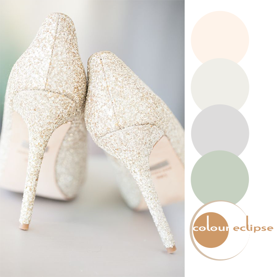 sparkly high heals with color palette