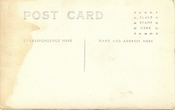 faded postcard with pinkish cast