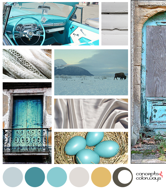 blue and gray color palette mood board