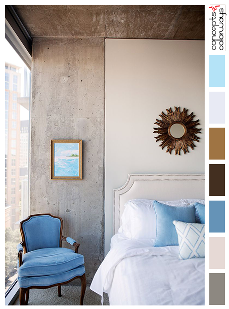loft bedroom inspired color palette