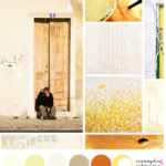 burnt orange and yellow color palette mood board
