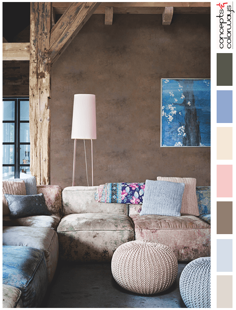 pantone rose quartz and serenity interior color palette