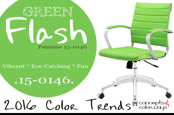 pantone green flash used in interior design