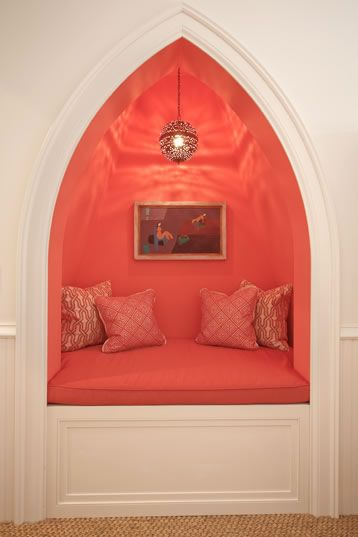 pantone peach echo coral sitting nook