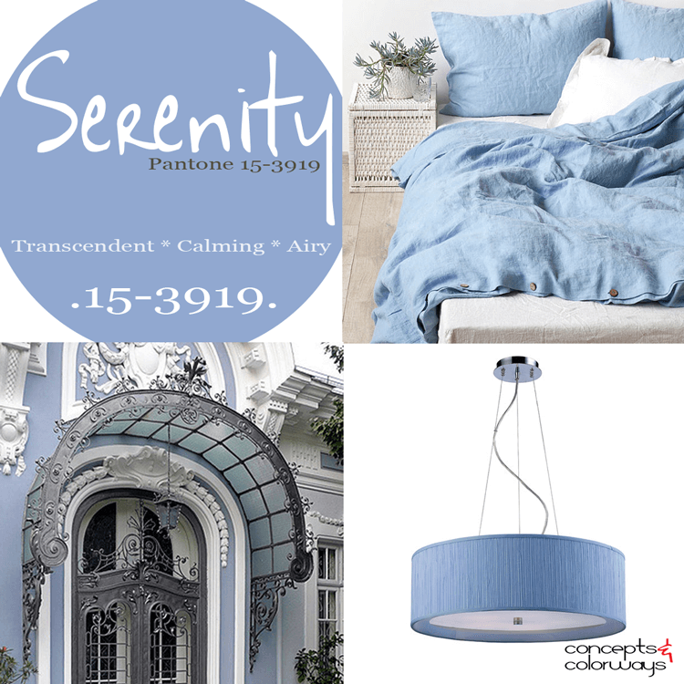 pantone serenity color trends, periwinkle, sky blue, baby blue, dusty blue, smoky blue, french blue
