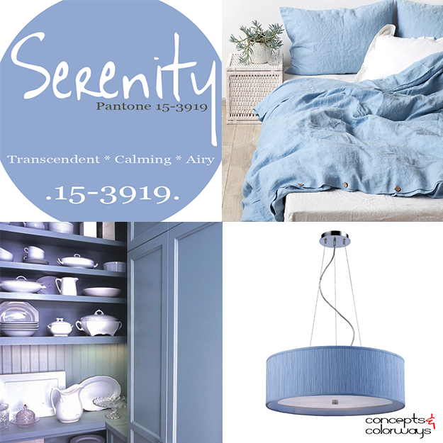 pantone serenity color trends