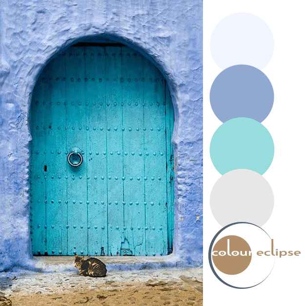 aqua and periwinkle color palette