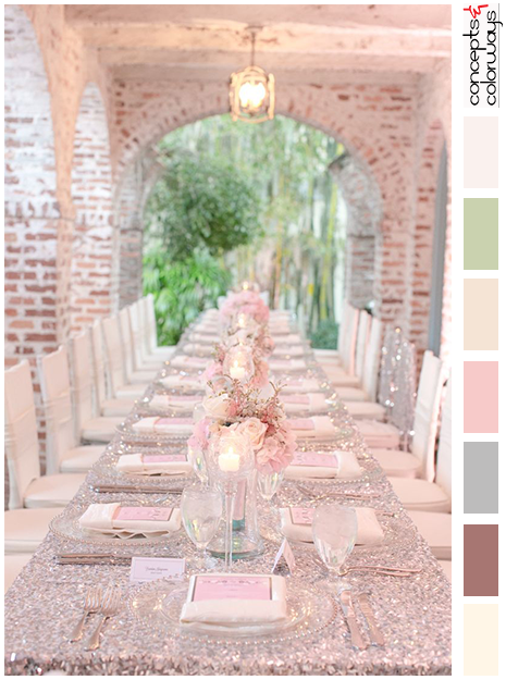 blush pink wedding inspired color palette