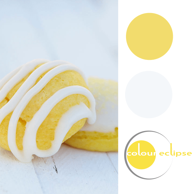 bright yellow and white color palette